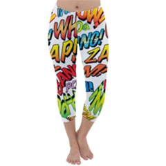 Comic Book Sounds Capri Winter Leggings