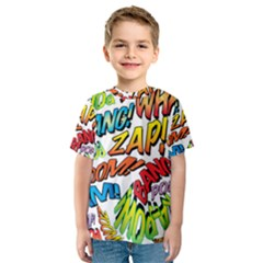 Comic Book Sounds Kid s Sport Mesh Tee