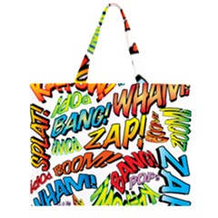 Comic Book Sounds Large Tote Bag