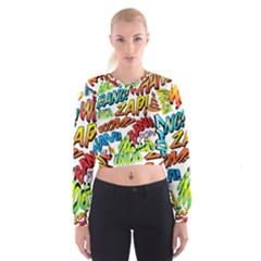 Comic Book Sounds Women s Cropped Sweatshirt
