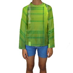 Technology Kid s Long Sleeve Swimwear