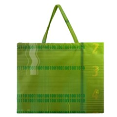 Technology Zipper Large Tote Bag