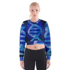 Dna Identity Women s Cropped Sweatshirt