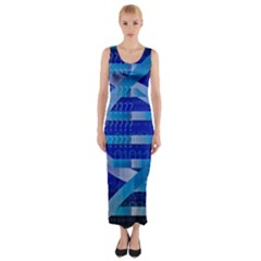 Dna Identity Fitted Maxi Dress