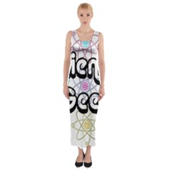 Science Geek Fitted Maxi Dress