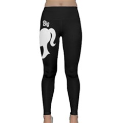 Big Sis Barbie In Black & White Yoga Leggings