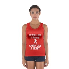 Look Like A Beauty, Cheer Like A Beast In Red Tank Top