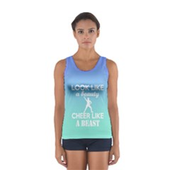 Look Like a Beauty, Cheer Like a Beast in Blues Ombre  Tank Top