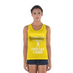 Look Like a Beauty, Cheer Like a Beast in Bright Yellow Tank Top