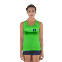 Who Needs a Tiara in Navy & Lime Green  Tank Top