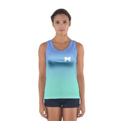 Who Needs a Tiara in Blues Ombre Tank Top