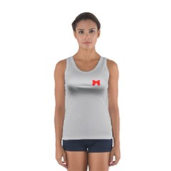 Who Needs a Tiara in Red & Grey Tank Top