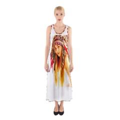 Indian 26 Full Print Maxi Dress