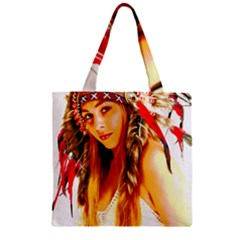 Indian 26 Zipper Grocery Tote Bag