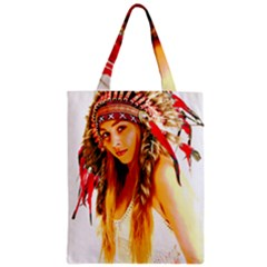 Indian 26 Zipper Classic Tote Bag