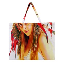 Indian 26 Zipper Large Tote Bag