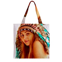 Indian 27 Zipper Grocery Tote Bag