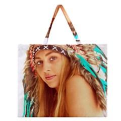 Indian 27 Zipper Large Tote Bag