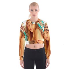 Indian 27 Women s Cropped Sweatshirt