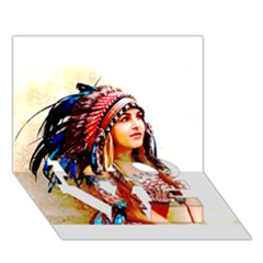 Indian 22 Love Bottom 3d Greeting Card (7x5)