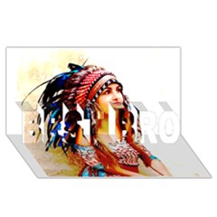 Indian 22 Best Bro 3d Greeting Card (8x4)
