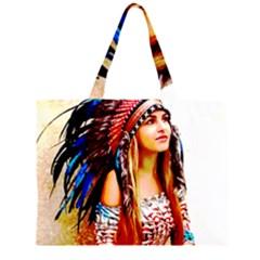 Indian 22 Zipper Large Tote Bag
