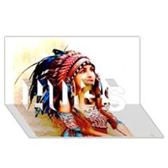 Indian 22 Hugs 3d Greeting Card (8x4)