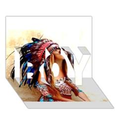 Indian 21 Boy 3d Greeting Card (7x5)