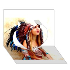 Indian 21 Heart 3d Greeting Card (7x5)