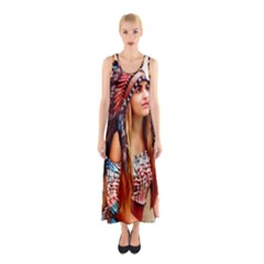 Indian 21 Full Print Maxi Dress
