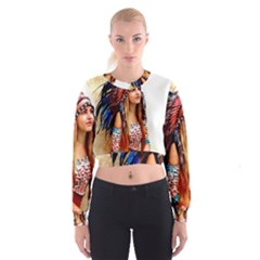 Indian 21 Women s Cropped Sweatshirt