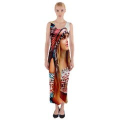 Indian 21 Fitted Maxi Dress
