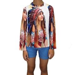 Indian 21 Kid s Long Sleeve Swimwear
