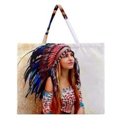Indian 21 Zipper Large Tote Bag