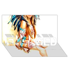 Indian 18 Engaged 3d Greeting Card (8x4)