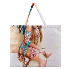Indian 17 Zipper Large Tote Bag