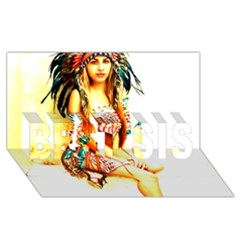 Indian 16 Best Sis 3d Greeting Card (8x4)