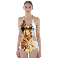 Indian 16 Cut-Out One Piece Swimsuit