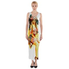 Indian 16 Fitted Maxi Dress