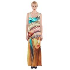 Indian 14 Maxi Thigh Split Dress