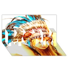 Indian 12 Mom 3d Greeting Card (8x4)