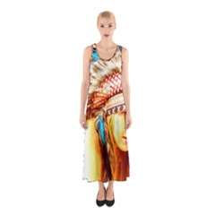 Indian 12 Full Print Maxi Dress