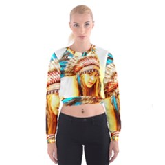 Indian 12 Women s Cropped Sweatshirt
