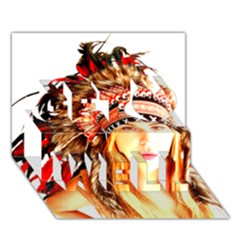 Indian 3 Get Well 3d Greeting Card (7x5)