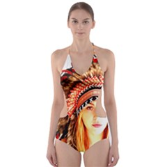 Indian 3 Cut Out One Piece Swimsuit