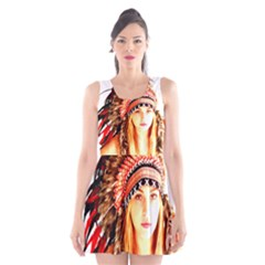 Indian 3 Scoop Neck Skater Dress