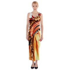 Indian 3 Fitted Maxi Dress