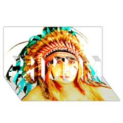 Indian 29 #1 Mom 3d Greeting Cards (8x4)