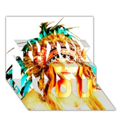 Indian 29 Thank You 3d Greeting Card (7x5)