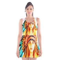 Indian 29 Scoop Neck Skater Dress
